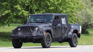 jeep prototype truck jeep wrangler pickup spied up close riding high