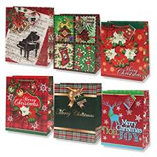 bulk christmas wrapping paper 12 christmas gift bags large bulk assortment with
