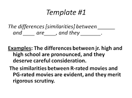 tips on writing compare and contrast essays by sharon westerholm