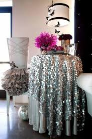 72 18mm silver big sequin tablecloth for wedding