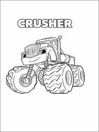 monster machine coloring pages blaze cookie designs pinterest