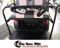 universal golf bag holder bracket attachment for golf cart rear