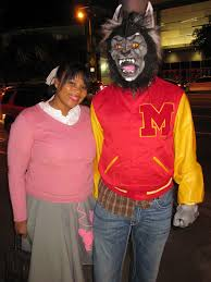 michael jackson halloween costume angie as ola ray and greg as michael jackson in