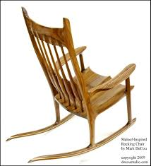 Modern Rocking Chair Built To Order Sam Maloof Inspired Handmade Rocking Chair