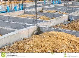 House Plumbing System Foundation For House Building With Plumbing System Stock Photo