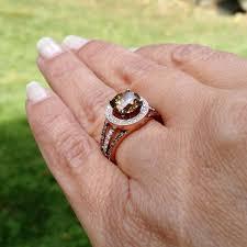 brown diamond engagement ring unique 2 carat 8 mm brown diamond engagement ring floating halo