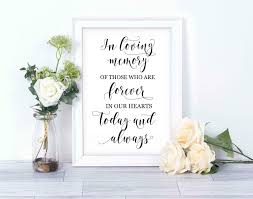 in loving memory wedding sign in loving memory wedding sign instant printable wedding