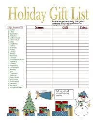 christmas gift list christmas wish and gift list template with simple