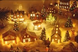simple decoration christmas town decorations village decorating