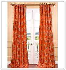 Orange And White Curtains Orange Curtain Panel 100 Images Gorgeous Burnt Orange Sheer