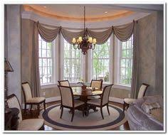 dining room curtain ideas top bay window treatments drapery hardware curtain rods