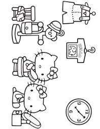 sanrio characters happy coloring book kawaii kitty pom pom