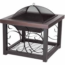 Firepit Patio Table by Fire Sense Hammer Tone Bronze Cocktail Table Fire Pit Walmart Com