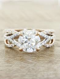 design of wedding ring interlaced split shank diamond ring ken design