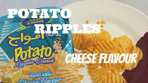 ripples chips potato ripple crunch cheese flavour taste test
