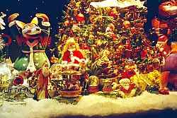christmas in new york city department store windows