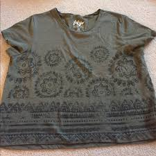 army pattern crop top tokyo darling army green henna pattern crop top from claudia s