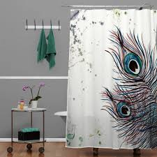 peacock bathroom ideas monika strigel boho peacock feathers shower curtain for the home