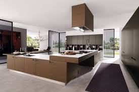 Design Interior Kitchen Luxury Kitchen Design With Large Spaces And Brown Cabinet 3166