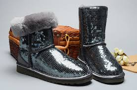 womens ugg boots grey sparkles 3161 boots grey