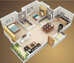 simple two bedroom house plans 50 3d floor plans layout designs for 2 bedroom house or apartment