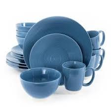 corelle livingware 16 dinnerware set in cafe blue 1055607