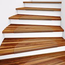 Stair Protectors by Floortex Polycarbonate Stair Treads For Hard Floors Pack Of 15