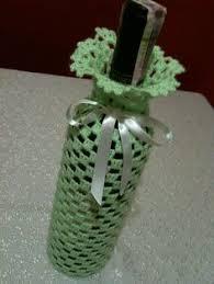 pattern for wine bottle holder hand lace crochet wine bottle cover jars pinterest wine bottle