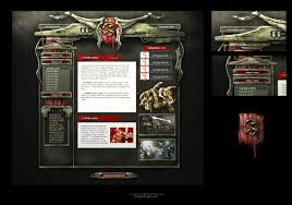 alien sci fi game web template by karsten on deviantart