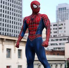 spider man costume movie quality replica cosplay suit raimi tobey