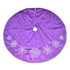 deluxe tree skirt 48 tree skirt purple themed snowflake