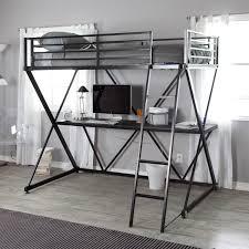 Black Bunk Bed With Desk Loft Bed With Desk