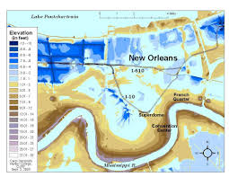 New Orleans Maps by This Shocking Elevation Map Shows Just How Screwed New Orleans