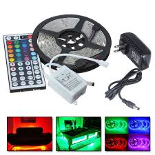 rgb led light strips 5m rgb 5050 waterproof 300 led strip smd light 44 key remote 12v