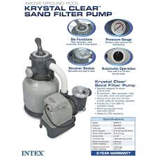Intex Swimming Pool Pumps And Filters Clear Sand Filter Pump Above Ground Pool Swimming System Water