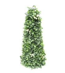 blooming holiday christmas 14 u0027 u0027 boxwood cone tree with white berry