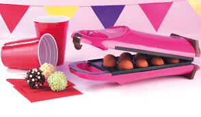 cake pop maker party time ek2069 pink 180 flip cake pop maker small