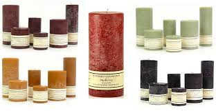 4 9 scented textured pillar candles njcandle