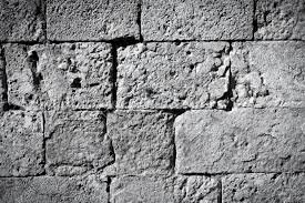 cool vintage black and white brick wall texture background stock