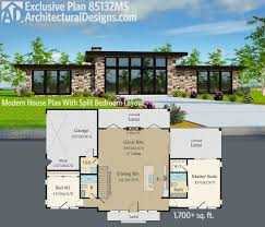 plan exclusive modern house with split bedroom architectural designs exclusive house plan gives you open floor split bedroom layout
