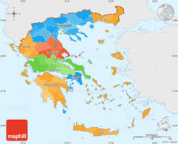 greece map political political simple map of greece single color outside