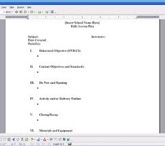 9 best images of blank lesson plan forms unit lesson plan