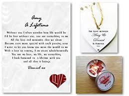 personalised love letter romantic poem gift set a lifetime