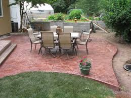 Brushed Concrete Patio Services Tiger Concrete Llc
