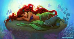 mermaid coloring onekatie deviantart