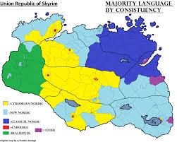 Map Of Skyrim Majority Language Spoken At Home In Republic Of Skyrim Imaginarymaps
