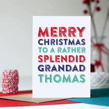 merry christmas grandad greetings card by do you punctuate