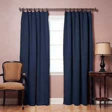 navy blue pinch pleat thermal insulated drapes blackout curtains