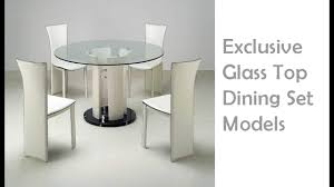 glass top dining table u0026 dining chair models world best modern