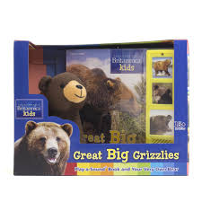 britannica great big grizzlies play a sound book and stuffed
